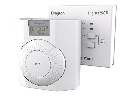 Drayton RF601 RF draadloze room thermostaat met digitaal display van Drayton
