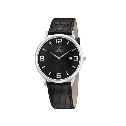 FESTINA F6806/2 - Reloj de Caballero de Cuarzo, Correa de Piel Color Negro