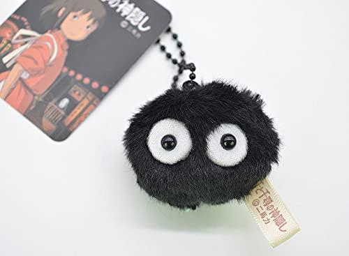 Juguetes de peluche Totoro juguetes de peluche con espíritu lejos muñeca elfo polvo pequeño colgante negro bola de carbón polvo elfo llavero muñeca juguete regalo de cumpleaños niño (color: bl