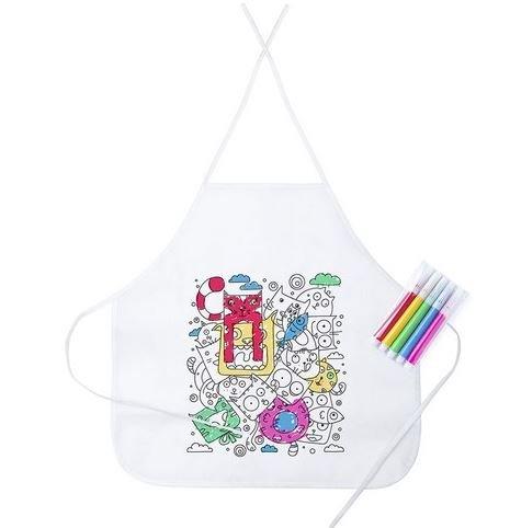 potente para casa Lotes de 15 delantales para niños para teñir y teñir, cada uno con 5 marcas de color …