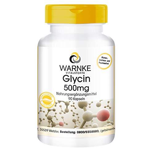 Glicina 500mg – Vegana – 90 cápsulas