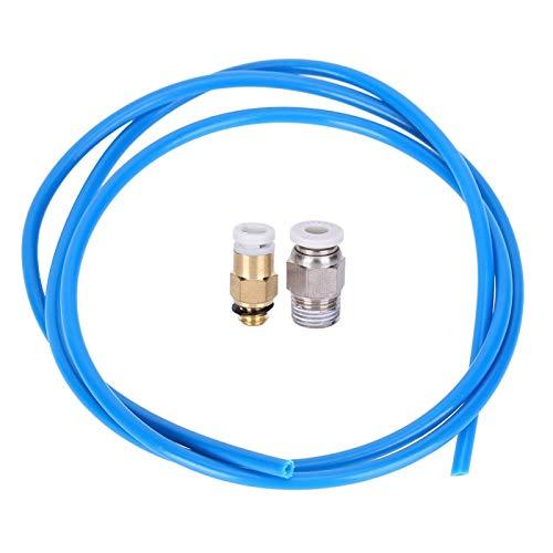 Juego de boquillas remotas para impresora de 1 m a 2 m, conector neumático M10, conector neumático M6, 3 piezas, tubo de alimentación remota para impresora 3D (1,5 m)