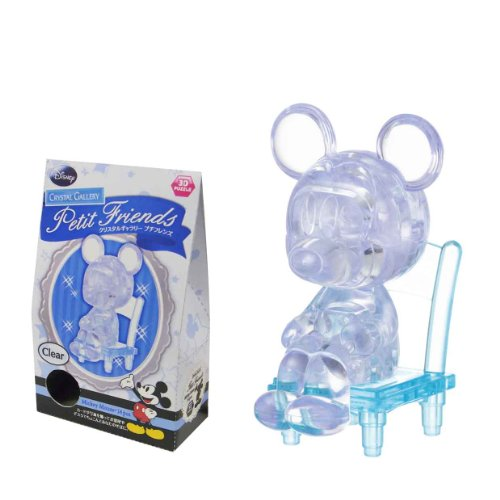 Crystal Gallery Petit Friends Mickey Mouse clear (japan import)