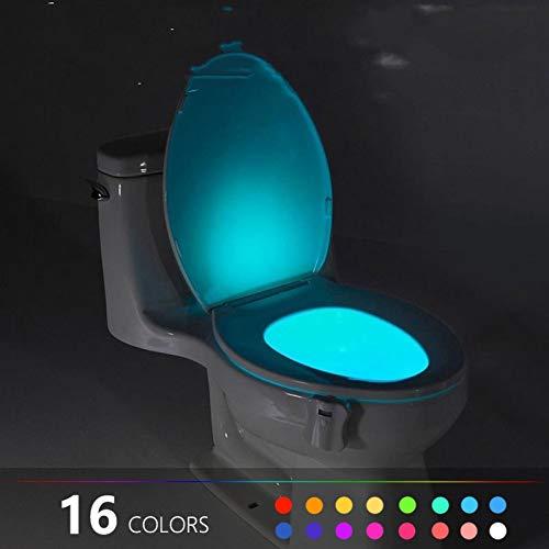 GKJRKGVF 16 kleuren wc-lamp nachtlicht lichaam, lichtsensor automatische led motion toiletkom bad licht verandert lamp