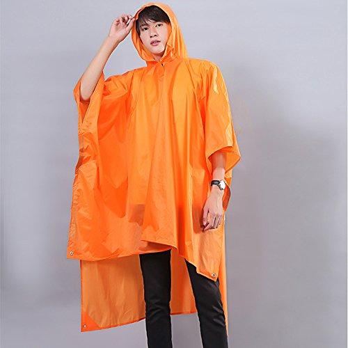Huifang Vêtements de pluie QFFL Imperméable Sac à Dos Imperméable Poncho léger Adulte Extérieur Voyage Alpinisme Imperméable Bleu Clair/Orange XL imperméable (Couleur : Bleu)