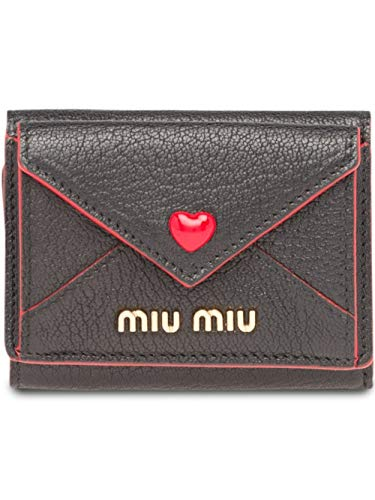 Miu Miu Luxury Fashion Damen 5MH0212BC3F0002 Schwarz Leder Brieftaschen | Herbst Winter 20