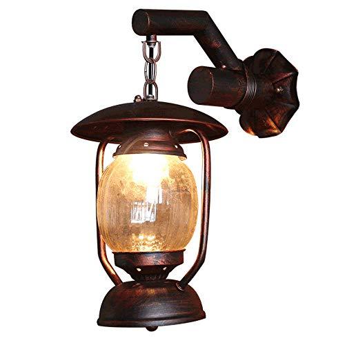 GIOAMH Lámpara de pared vintage Iluminación industrial E27 Accesorio de luces para el hogar Cubierta de pantalla de vidrio para restaurante Sala de estar Dormitorio