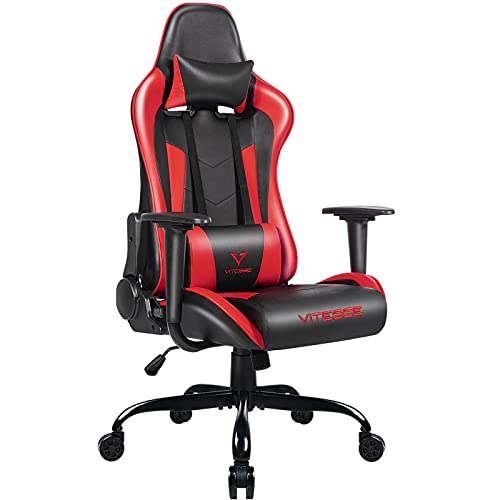 Vitesse Ergonomic Gaming Chair, 300 lbs PC Computer Gamer Chair for Teens Adults, Racing Office Desk Chair, Silla Gamer Height Adjustable Swivel Chair with Lumbar Support and Headrest