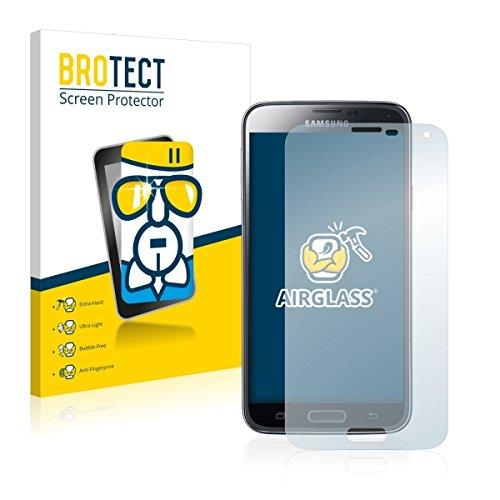 BROTECT AirGlass Premium Glasfolie für Samsung Galaxy S5 Duos LTE SM-G900FD (extrahart, ultradünn, hochtranzparent, Anti-Fingerprint, flexibel)