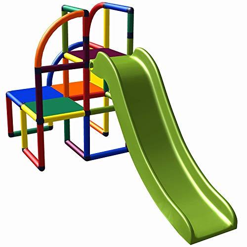 move and stic Olaf Spielturm Kletterturm mit Rutsche für Kleinkinder für Kinderzimmer oder Spielzimmer genauso geeignet wie im Garten