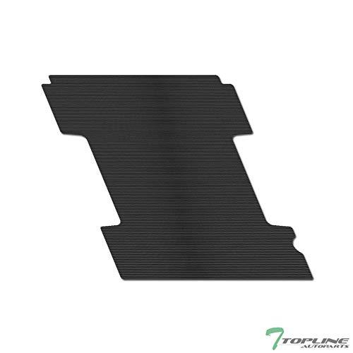 "Topline Autopart Black Rubber Horizontal Line Truck Bed Floor Mat Liner v2 For 87-10 Dodge / 2011 Ram Dakota / 06-09 Mitsubishi Raider 6.5 Feet (78"") bed"