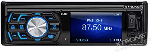 Xtrons® simple 1 DIN écran TFT de 7,6 cm en Dash Autoradio stéréo audio vidéo 720p lecteur MP3 USB SD radio FM
