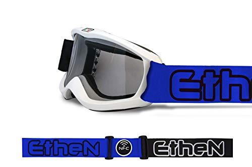 Ethen SK0409 Skibril Junior Gioventù Unisex, wit en blauw, eenheidsmaat