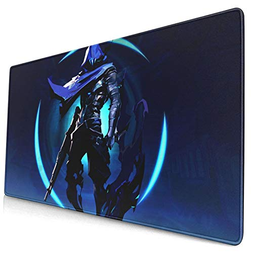 Valorant Omen Game Large Gaming Mouse Pad Oversized Long Extended Mat Desk Pad Keyboard Pad Thick Non-Slip for Work Gaming Office Home 29.5x15.8in