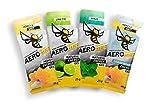 Probierpaket AEROBEE Energy Gel | Honey & Salt, Limette, Minze, Honey & Salt LIQUID | Natürliches Energie Gel für Ausdauersport | Schnelle und dauerhafte Energie | Sehr bekömmlich | 4 Gels x 25g