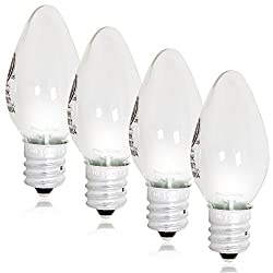 Maxxima LED C7 Candelabra Night Light Replacement Bulb - (Pack of 4)