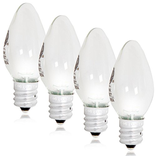 Maxxima LED C7 Candelabra Night Light Replacement Bulb 12 Lumens, 2 LED - (Pack of 4)
