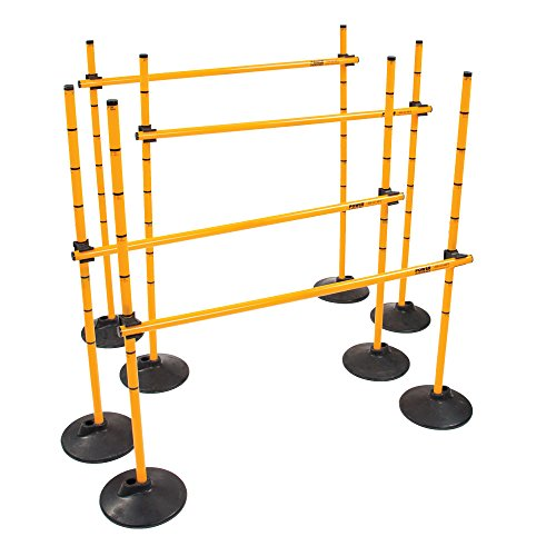 Power Systems Plyo Hurdles, Adjustable from 12 to 40 Inches, Set of 4, Yellow (22050)