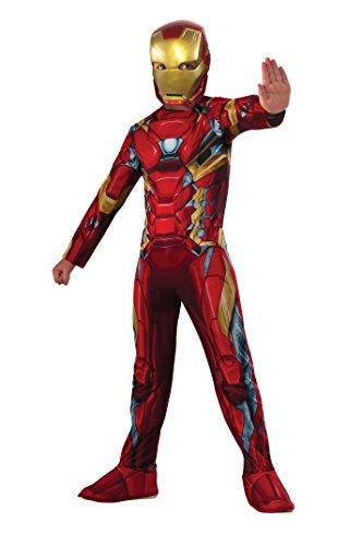 IRONMAN- Iron Man Classic Civil War Disfraz para niños, M (Rubie's 620581)