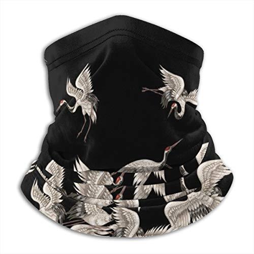 Akhy Multifunctional Headwear Face Mask Headband Neck Gaiter Japanese White Cranes Balaclava for Men and Women