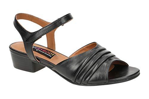 Everybody Damen Sandalette - Riemchen Sandalen Isatis 20891B4114 Black Schwarz, EU 38