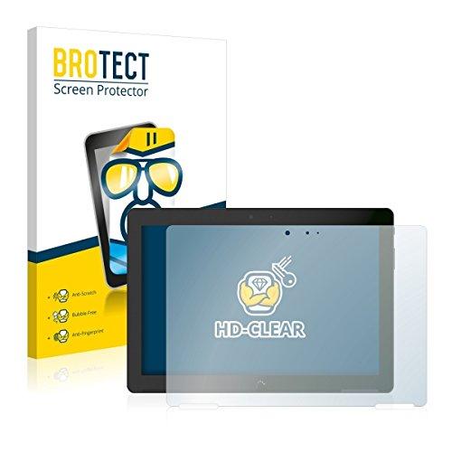 2X BROTECT HD Clear Bildschirmschutz Schutzfolie für BQ Aquaris M10 (kristallklar, extrem Kratzfest, schmutzabweisend)