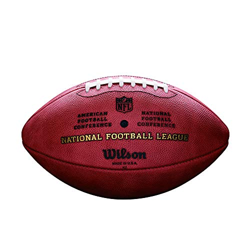 Wilson Men's NFL Duke Game Leather Football American Football Ball, Brown, N/A