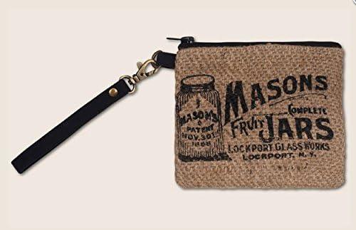 Mason Jar Wristlet - Handmade Woven Wrist Purse