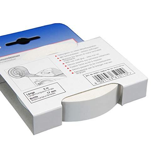 Kantenumleimer für Möbelbauplatten und Regalbretter Weiß 5 m x 17 mm