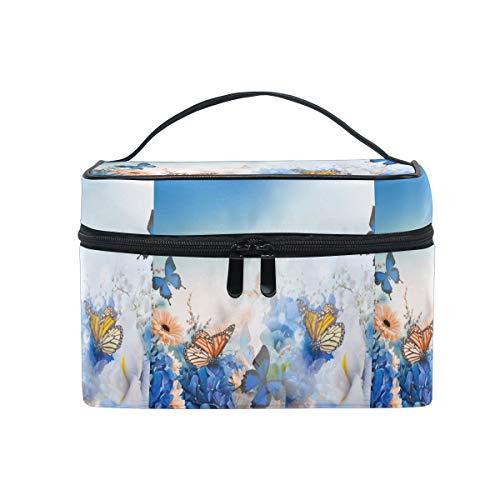 Emoya Trousse de toilette avec poignée Motif papillons et fleurs