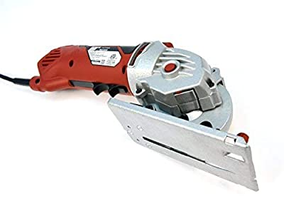 Rotorazer Platinum Compact Circular Saw & Saw Set -Extra Powerful-Deeper Cuts! Guide Rail- DIY Projects- Wood Flooring, Cut Drywall, Tile, Grout, Metal, Pipes, PVC, Plastic, Copper, Carpet, Chain, etc