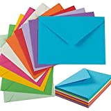 50 Pack A7 Colorful 5x7 Envelopes V Flap Invitation Envelopes for 5x7 Cards, Birthday, Weddings, Graduations, Greeting Cards, Baby Shower 5.24 x 7.24 Inches (Multicolor)