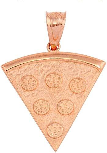 NC122 Hombres y Mujeres Collar Colgante Regalos Rose Pizza Slice Amistad Colgante