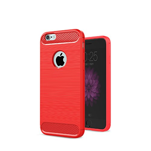 Iphone 6 Plus 6S Plus Custodia, Protettiva Case Cover Custodia in silicone per Iphone 6 Plus 6S Plus - Rosso