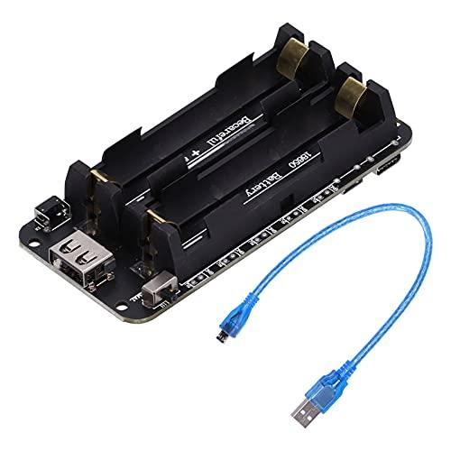 Caja del soporte de batería 18650, soporte de caja de batería, suministro de energía para Raspberry Pi y sensor, con protección de batería, indicador LED