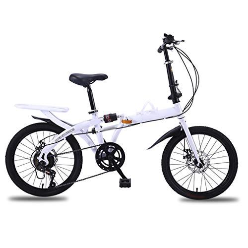 TYXTYX Plegable de Bicicletas de 16/20 Pulgadas Amortiguador portátil Boy Adultos y Chica de la Bicicleta de la Bicicleta Infantil, 2 Opciones De Color