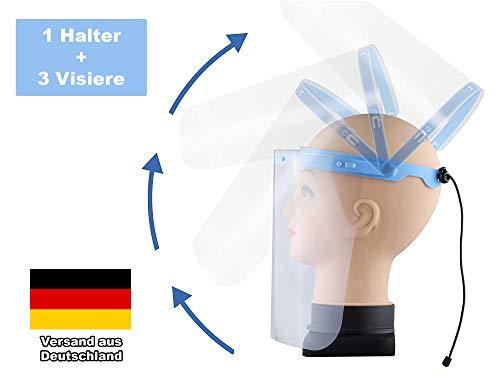 Gesichtsschutz verstellbar Klappvisier aus robustem Kunststoff Schutzvisier Face Shield Visier Gesichtsvisier