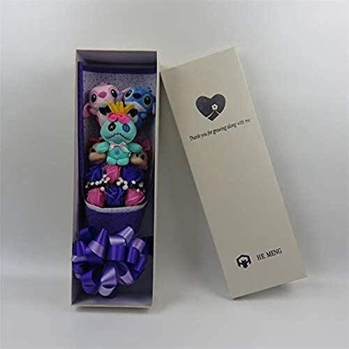 Mooie Cartoon Knuffels Lilo en Stitch en Mickey Mouse Boeket met Fake Flowers for Graduation Gifts Valentijnsdag met Doos