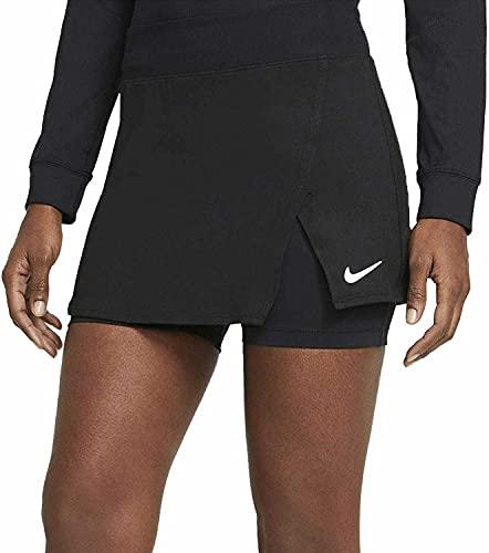 NIKE W NKCT DF VCTRY Skirt STR Shorts, Black/White, M Women's
