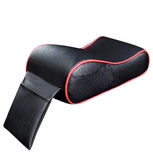 AIOFOGXC Asiento de Coche Suave Cubierta de Cuero, Apoyabrazos De Centro de Control de Protección Sillón del cojín del Coche, Apoyabrazos Cubierta Superior del Coche (Color Name : Red)