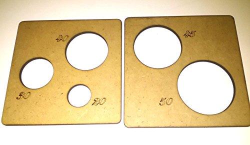 Plantillas para termoformar cabezas de fofuchas para bolas de 20-30-40-45-50 mm