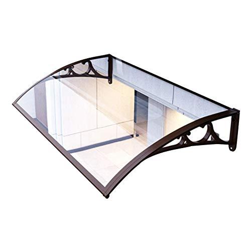 QIANDA Sun Shade Window Awning, UV Protection Transparent Hollow Sheet Flame Retardant Smash Resistant For Door Outdoor Backyard Eaves, Customizable (Size : 80cm x 60cm)