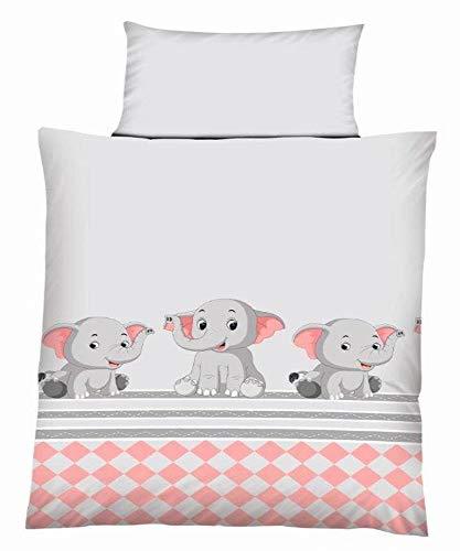 Ropa de cama para bebés y niños, de algodón con cremallera, 100x 135cm, 40x 60 cm, 100 % algodón, Diseño 2, 100 x 135 cm