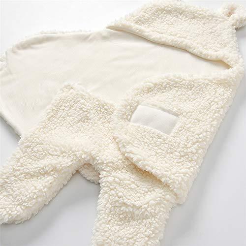 Infant super doux automne et hiver peluche bébé Cartoon laine agneau couverture câlin noir et blanc 55 * 29