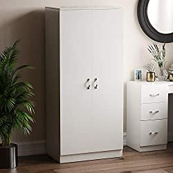 Product Colour: White Product Size: H 170 x W 76 x D 47 cm approx. Product Material: Composite Wood Product Brand: Vida Designs Product Cleaning Instructions: Wipe With A Dry Cloth