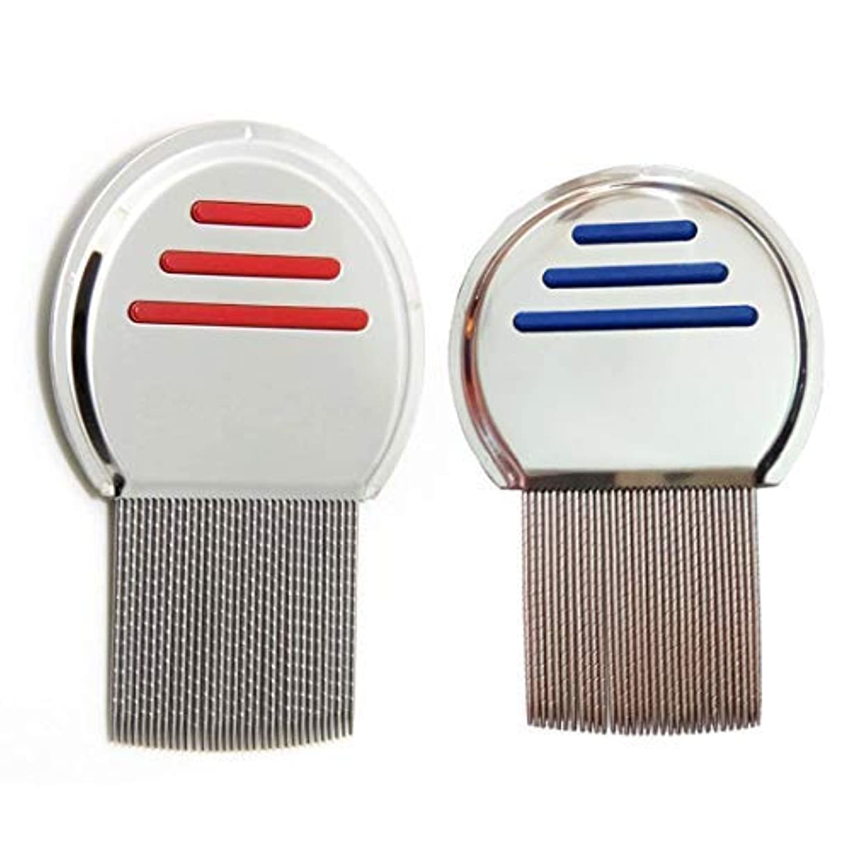軽く法律どうやって2 Pcs Stainless Steel Lice Dandruff Comb [並行輸入品]
