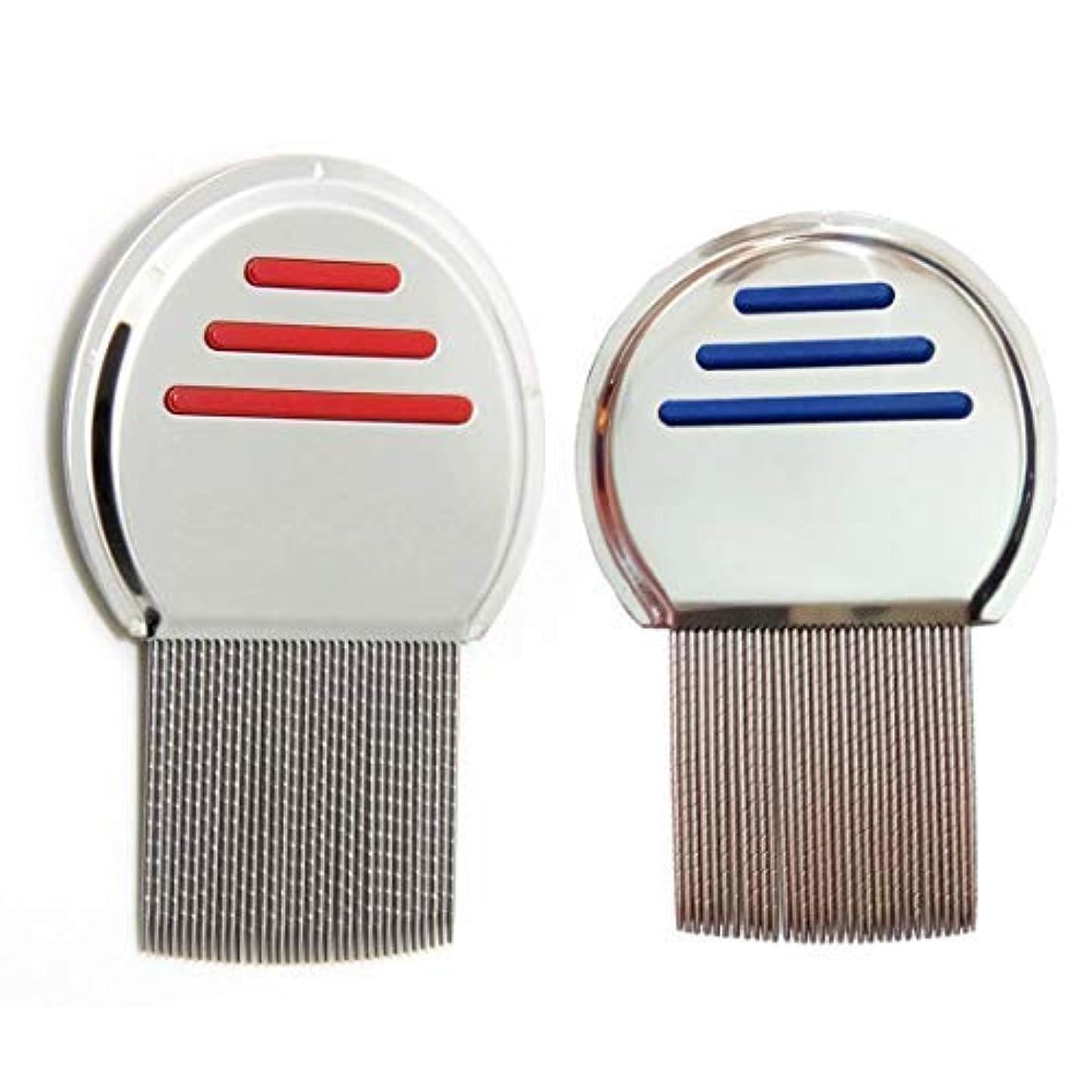 音節トラック批評2 Pcs Stainless Steel Lice Dandruff Comb [並行輸入品]
