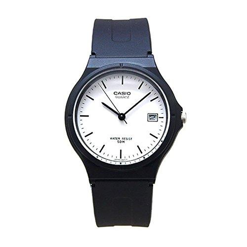 Casio Unisex MW59-7EV Black Resin Quartz Watch with White Dial Shops Watches Wrist