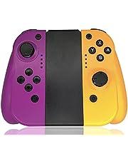 Maegoo Mandos para Switch Inalámbrico, Switch Mando Bluetooth Joypad Gamepad Joysticks De Reemplazo Joypad con Doble Choque Vibración y Giroscopio de 6 Ejes(Violeta+naranja)