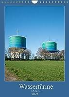 Wassertuerme im Ruhrgebiet (Wandkalender 2022 DIN A4 hoch): Wassertuerme weithin sichtbare Landmarken (Monatskalender, 14 Seiten )